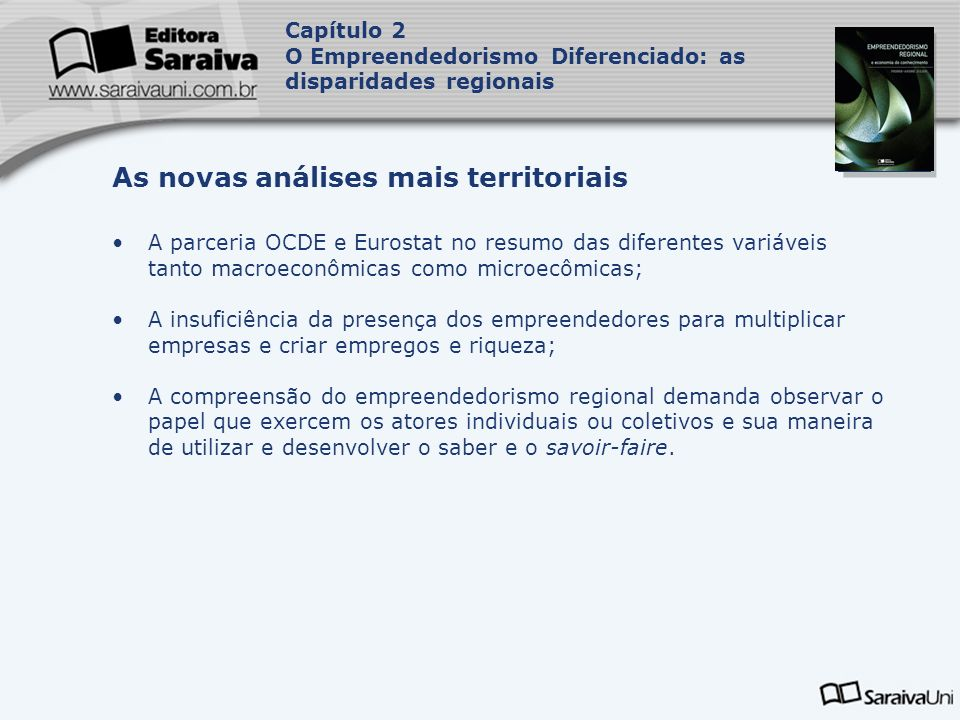 As novas análises mais territoriais