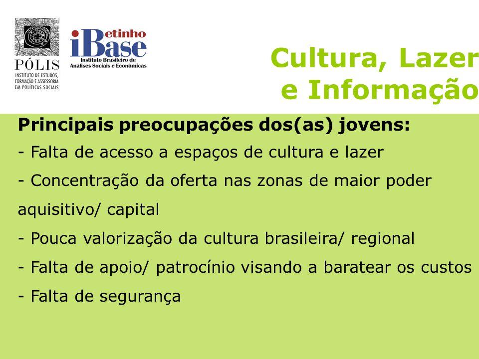 Cultura, Lazer e Informação