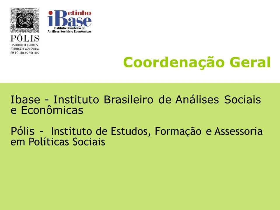 Coordenação Geral Ibase - Instituto Brasileiro de Análises Sociais e Econômicas.