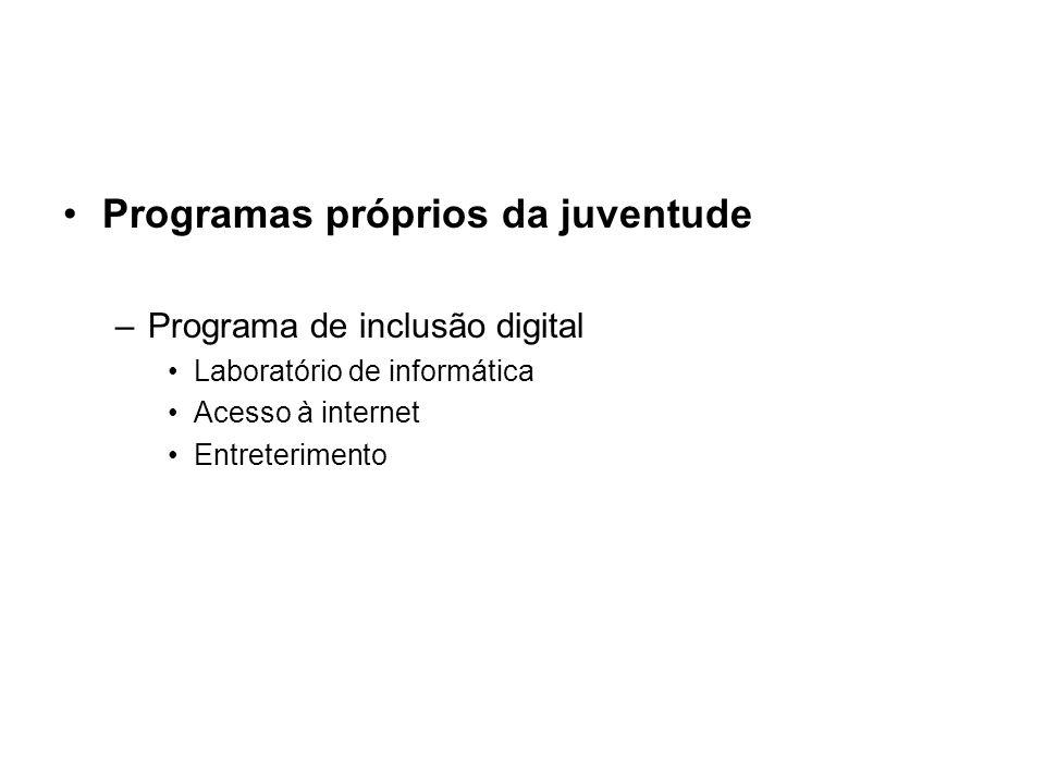 Programas próprios da juventude