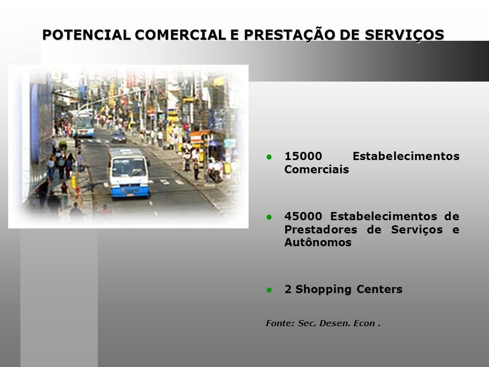POTENCIAL COMERCIAL E PRESTAÇÃO DE SERVIÇOS