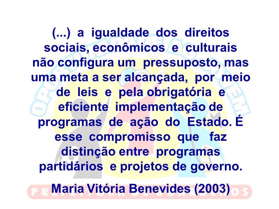 Maria Vitória Benevides (2003)
