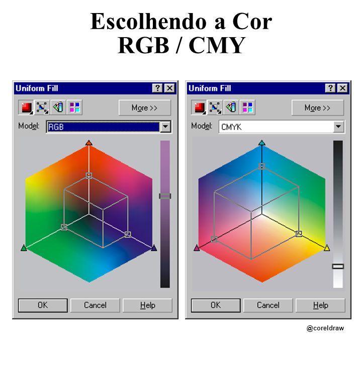 Escolhendo a Cor RGB / CMY