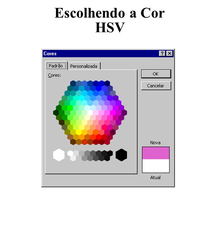 Escolhendo a Cor HSV