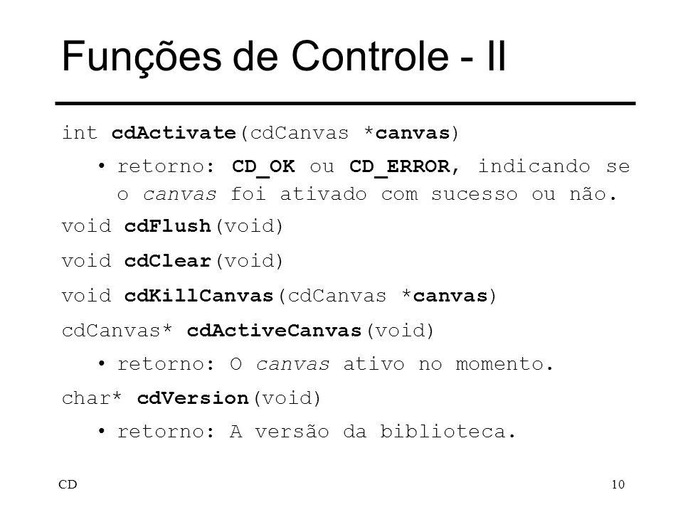 Funções de Controle - II