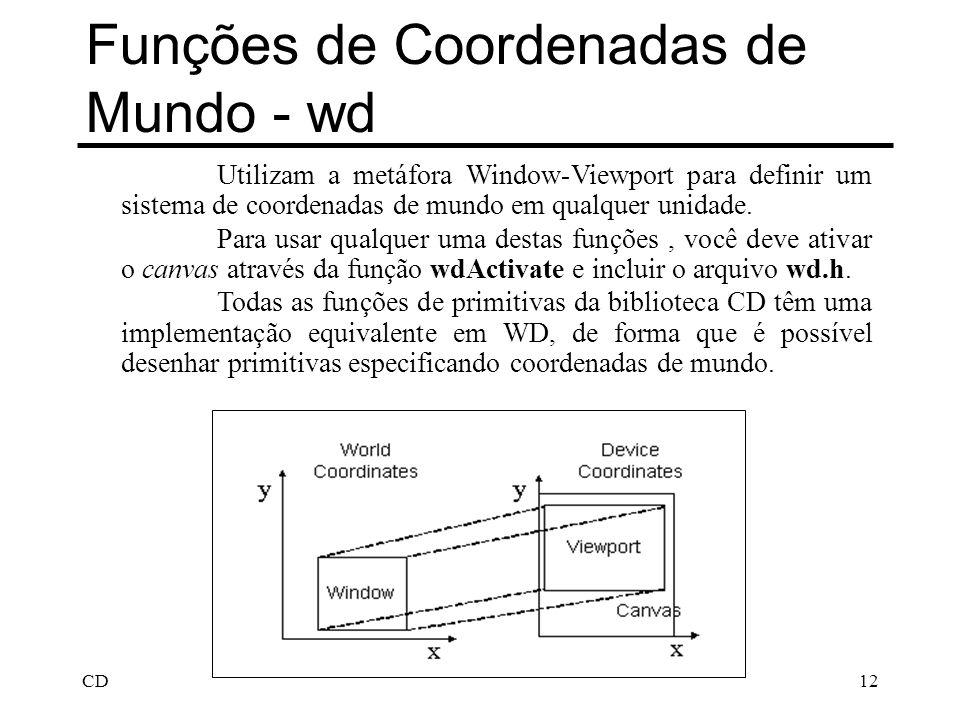 Funções de Coordenadas de Mundo - wd