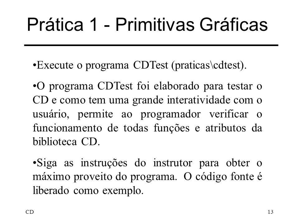 Prática 1 - Primitivas Gráficas