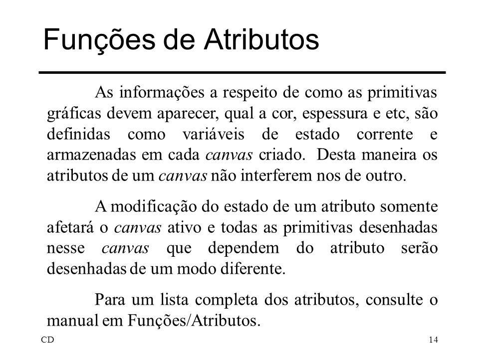 Funções de Atributos