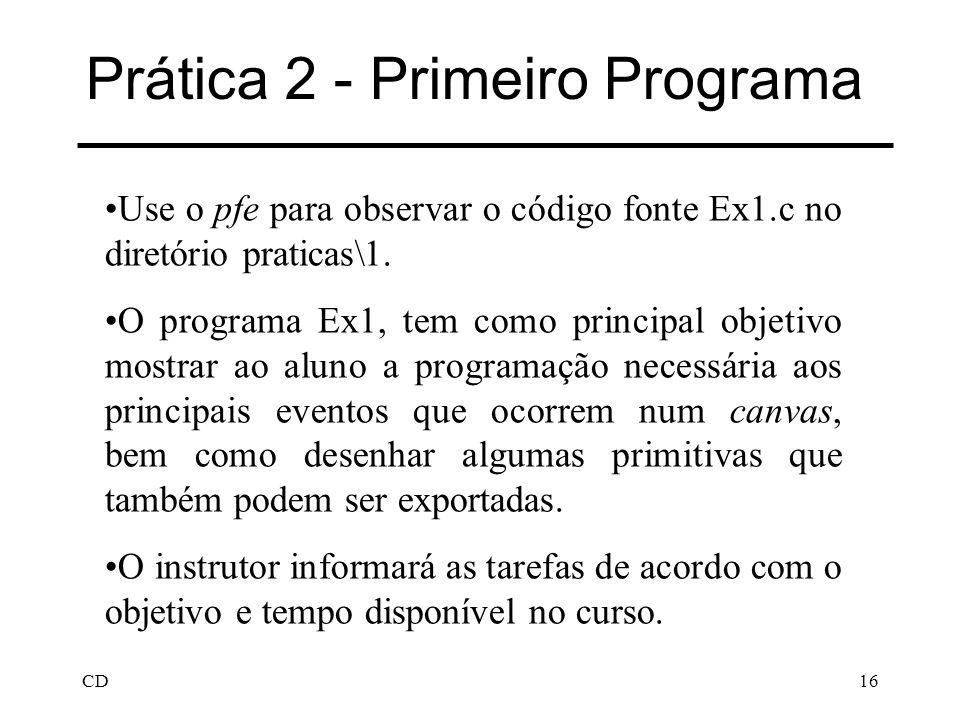 Prática 2 - Primeiro Programa