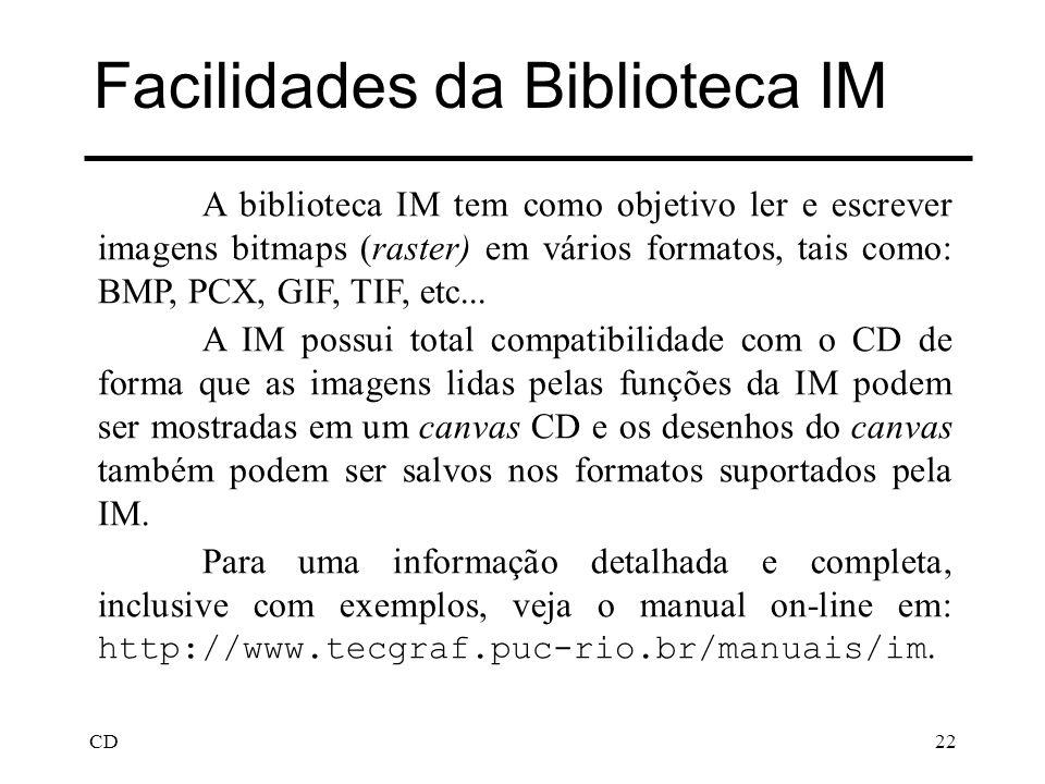 Facilidades da Biblioteca IM