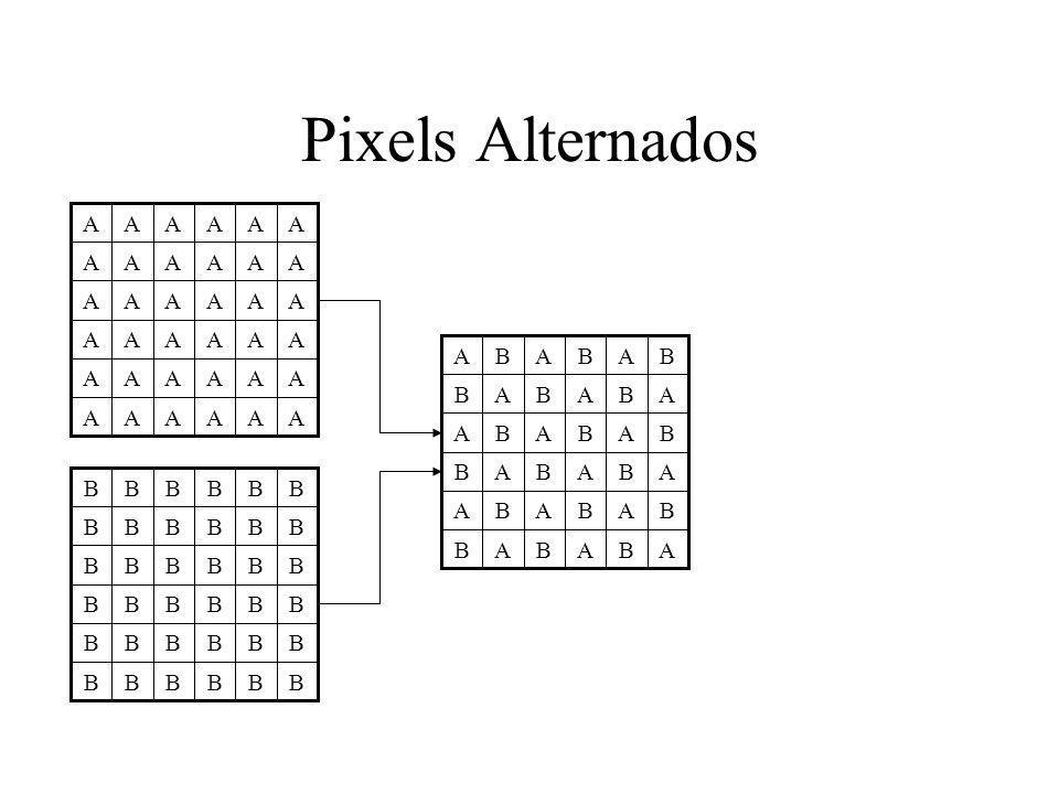 Pixels Alternados A A B B