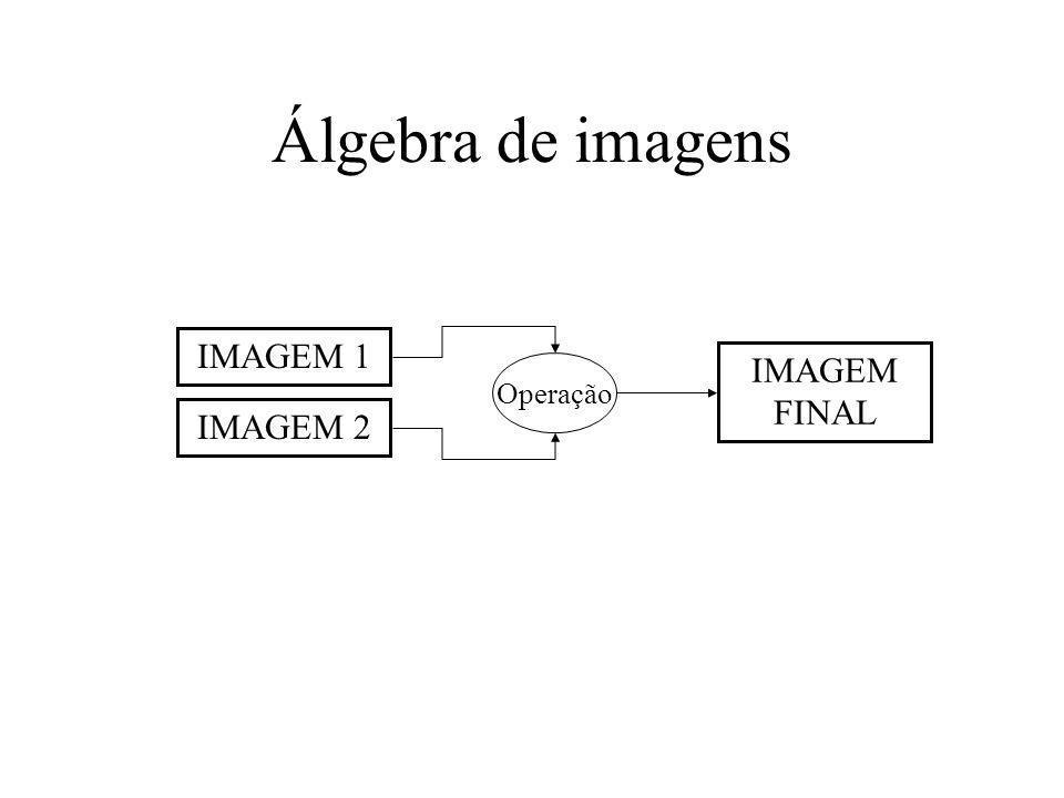 Álgebra de imagens IMAGEM 2 IMAGEM 1 IMAGEM FINAL Operação