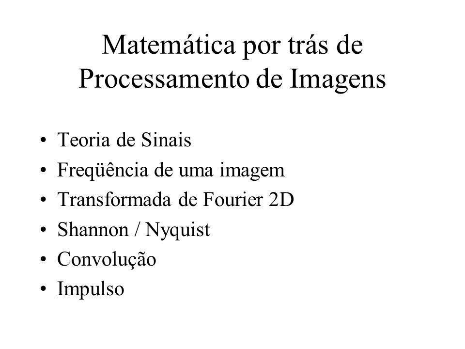Matemática por trás de Processamento de Imagens
