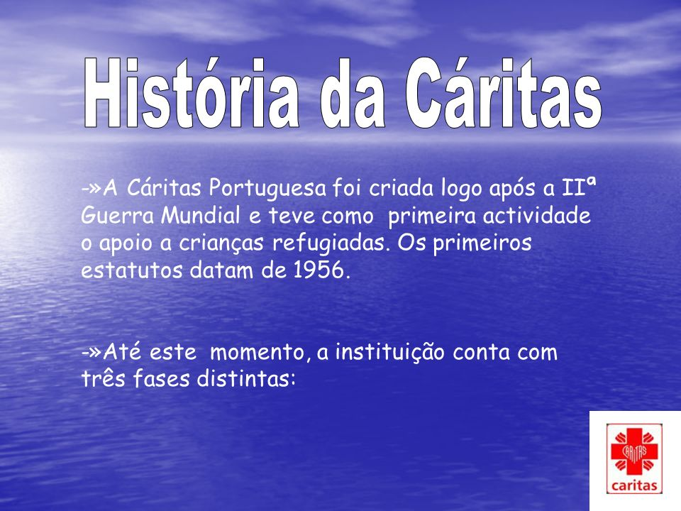 História da Cáritas