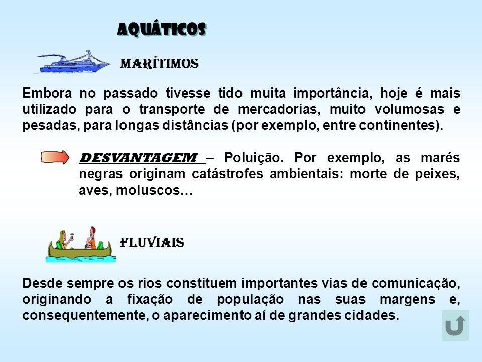 AQUÁTICOS Marítimos Fluviais
