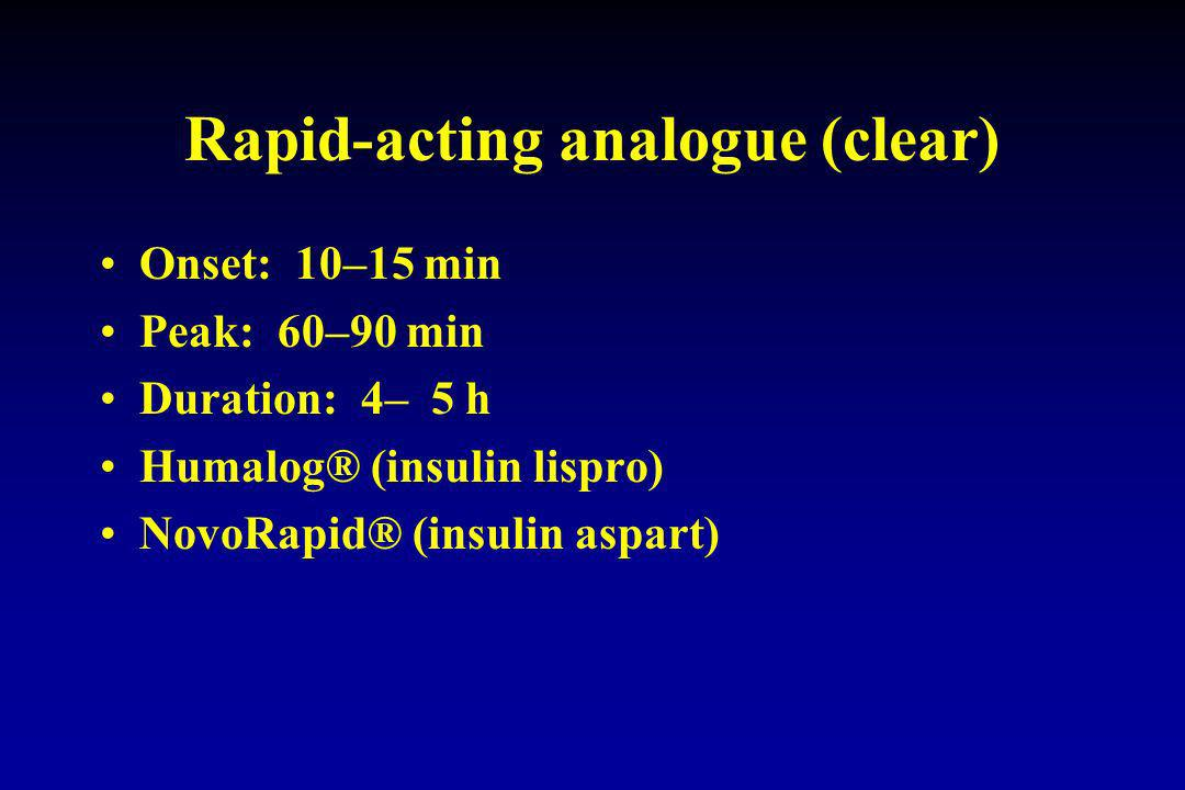 Rapid-acting analogue (clear)