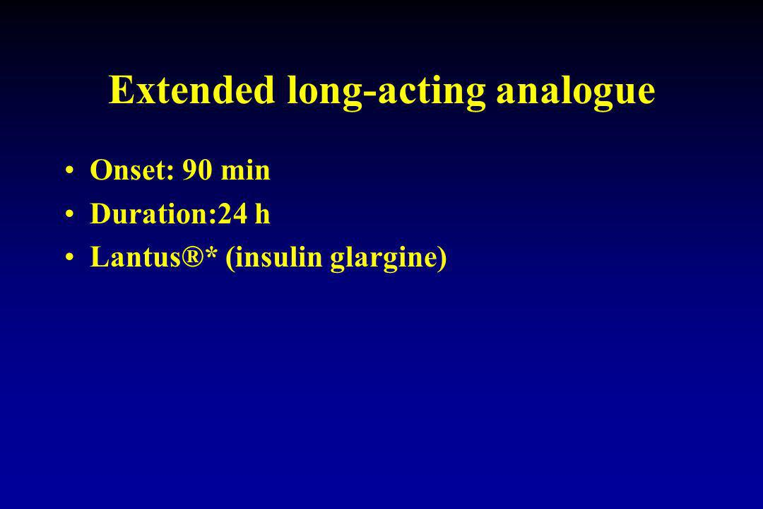 Extended long-acting analogue