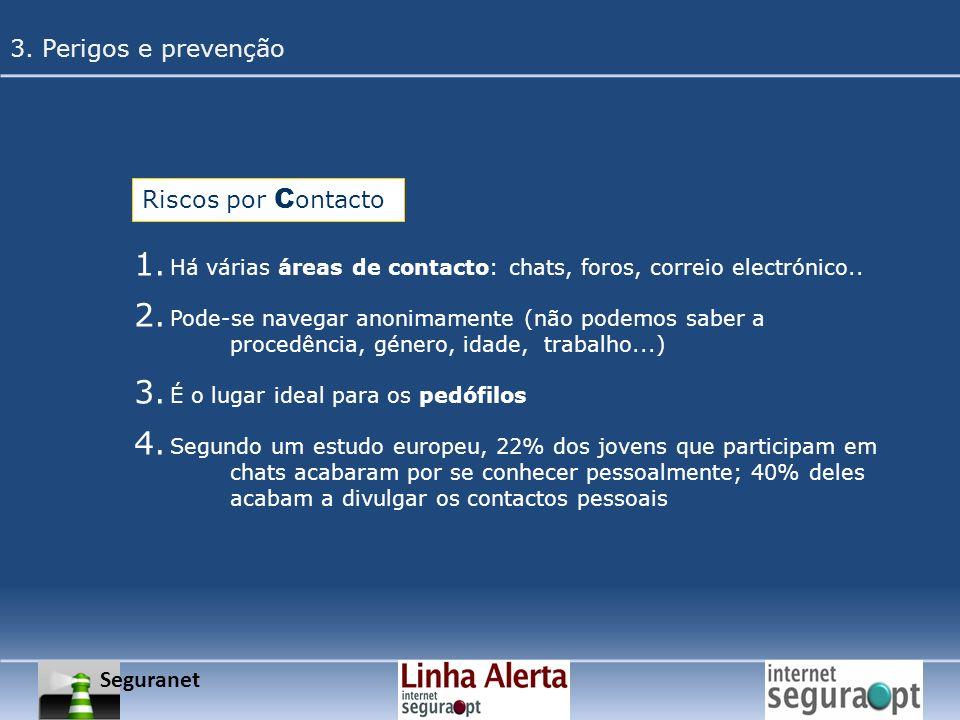 3. Perigos e prevenção Riscos por Contacto Seguranet
