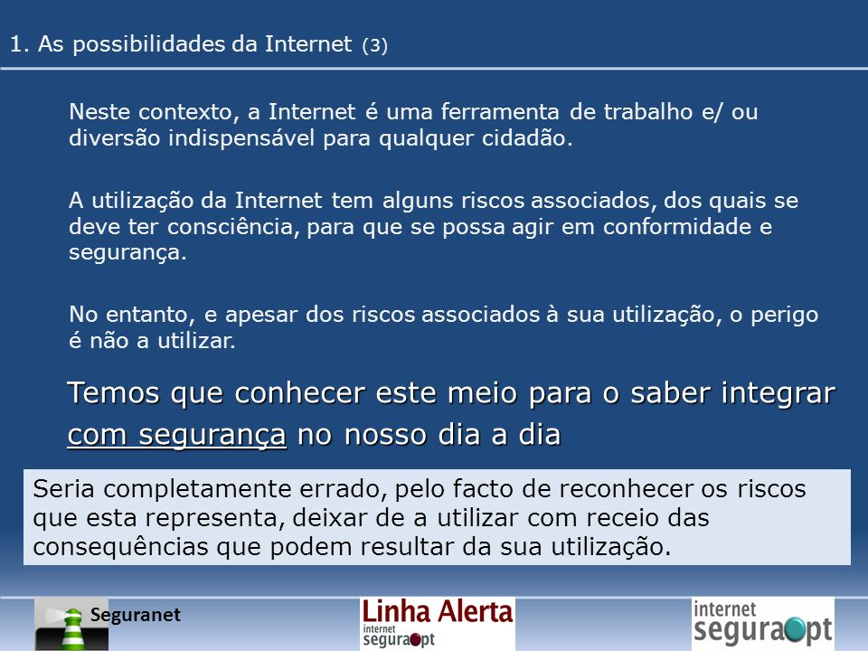 1. As possibilidades da Internet (3)
