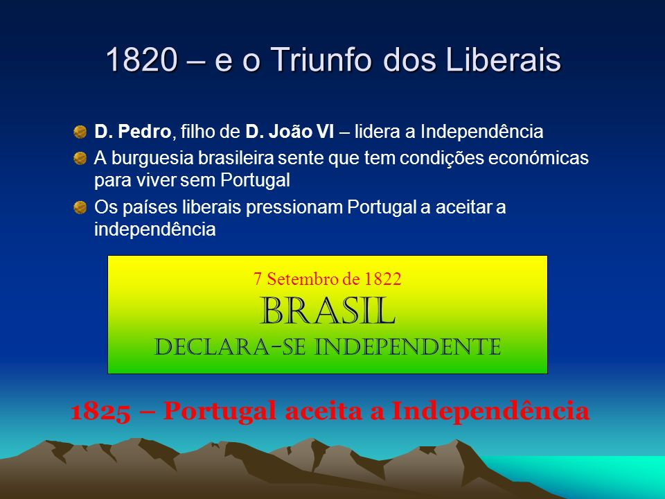 1820 – e o Triunfo dos Liberais