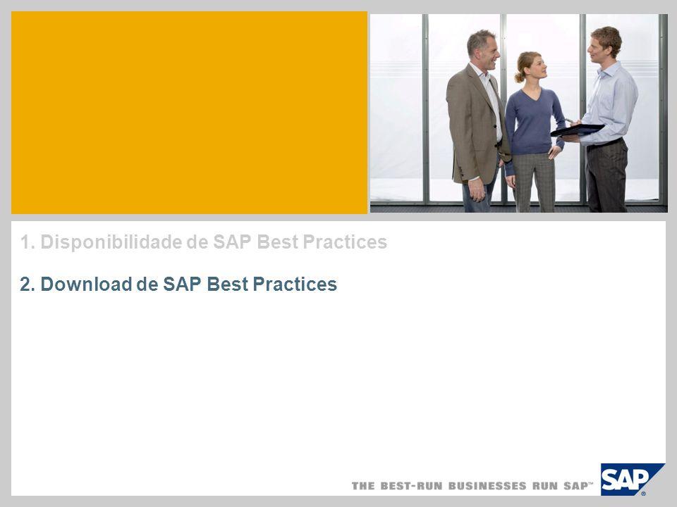 1. Disponibilidade de SAP Best Practices