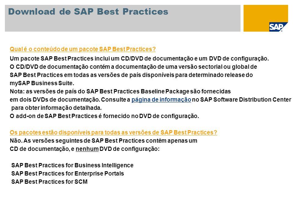 Download de SAP Best Practices