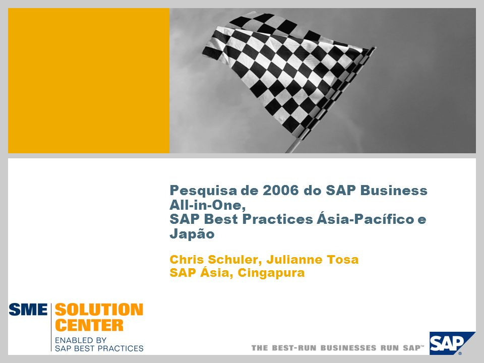 Pesquisa de 2006 do SAP Business All-in-One,