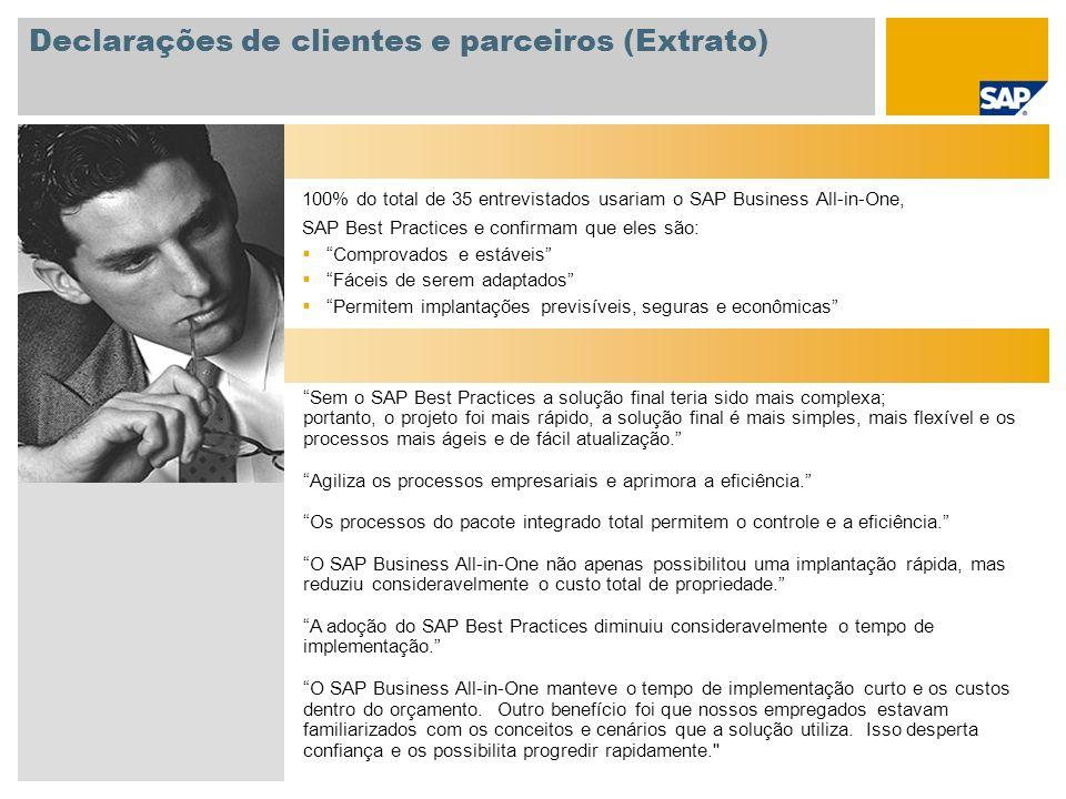 Declarações de clientes e parceiros (Extrato)