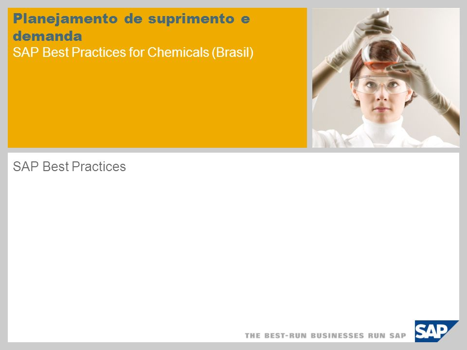 Planejamento de suprimento e demanda SAP Best Practices for Chemicals (Brasil)