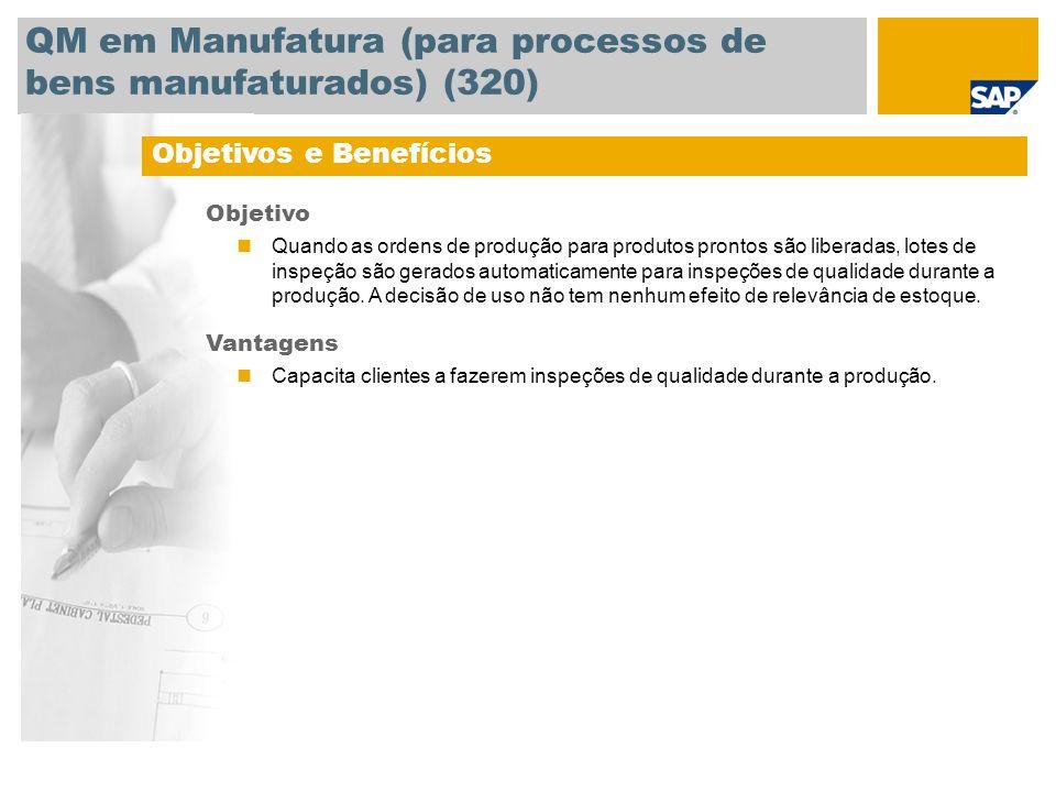 QM em Manufatura (para processos de bens manufaturados) (320)