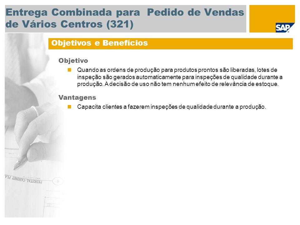 Entrega Combinada para Pedido de Vendas de Vários Centros (321)