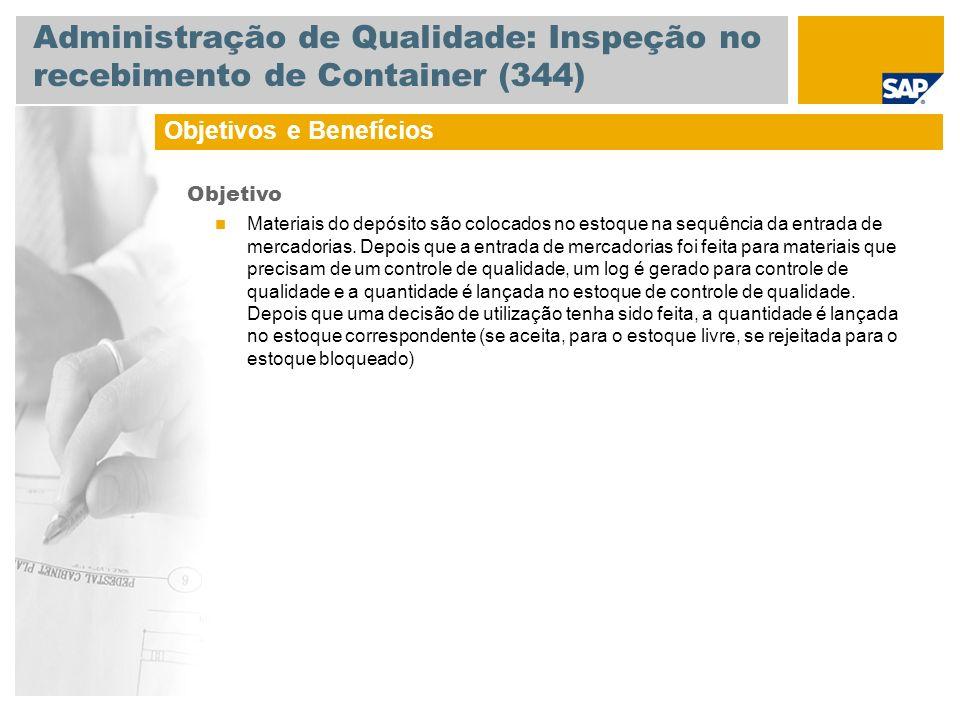 Administração de Qualidade: Inspeção no recebimento de Container (344)