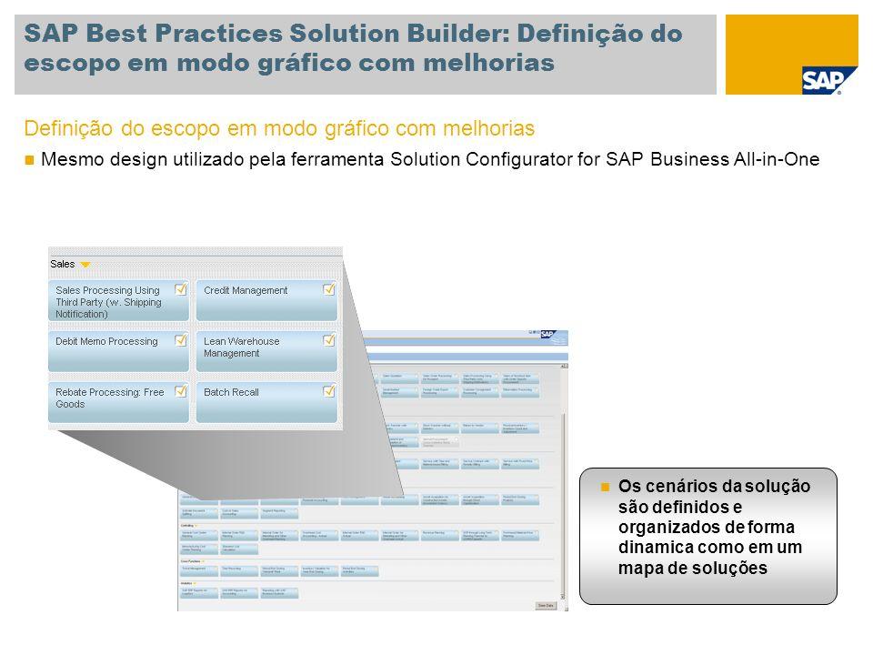 SAP Best Practices Solution Builder: Definição do escopo em modo gráfico com melhorias