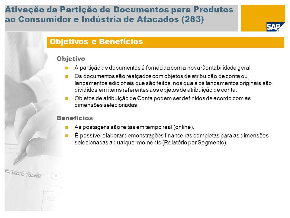 Ativação da Partição de Documentos para Produtos ao Consumidor e Indústria de Atacados (283)