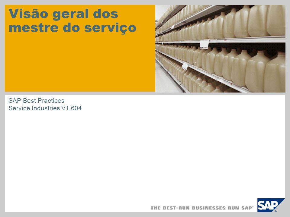 Visão geral dos mestre do serviço SAP Best Practices