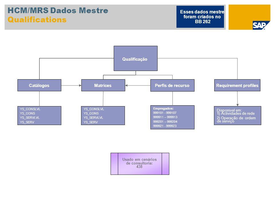 HCM/MRS Dados Mestre Qualifications