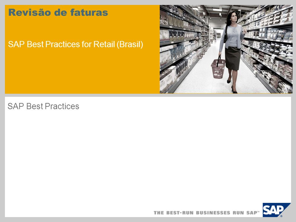 Revisão de faturas SAP Best Practices for Retail (Brasil)