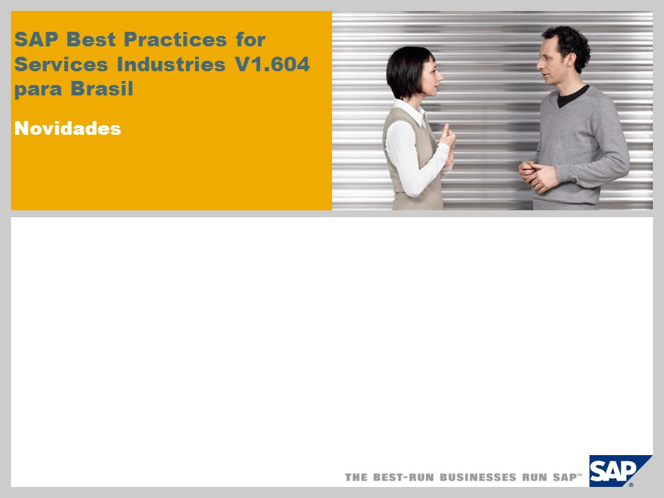 SAP Best Practices for Services Industries V1