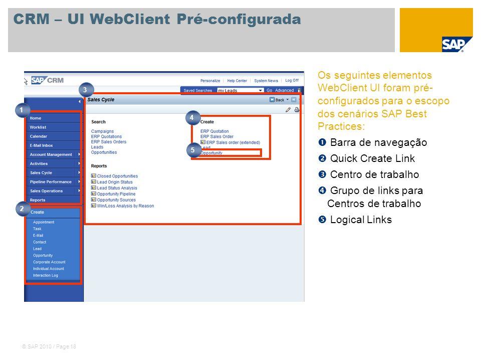 CRM – UI WebClient Pré-configurada