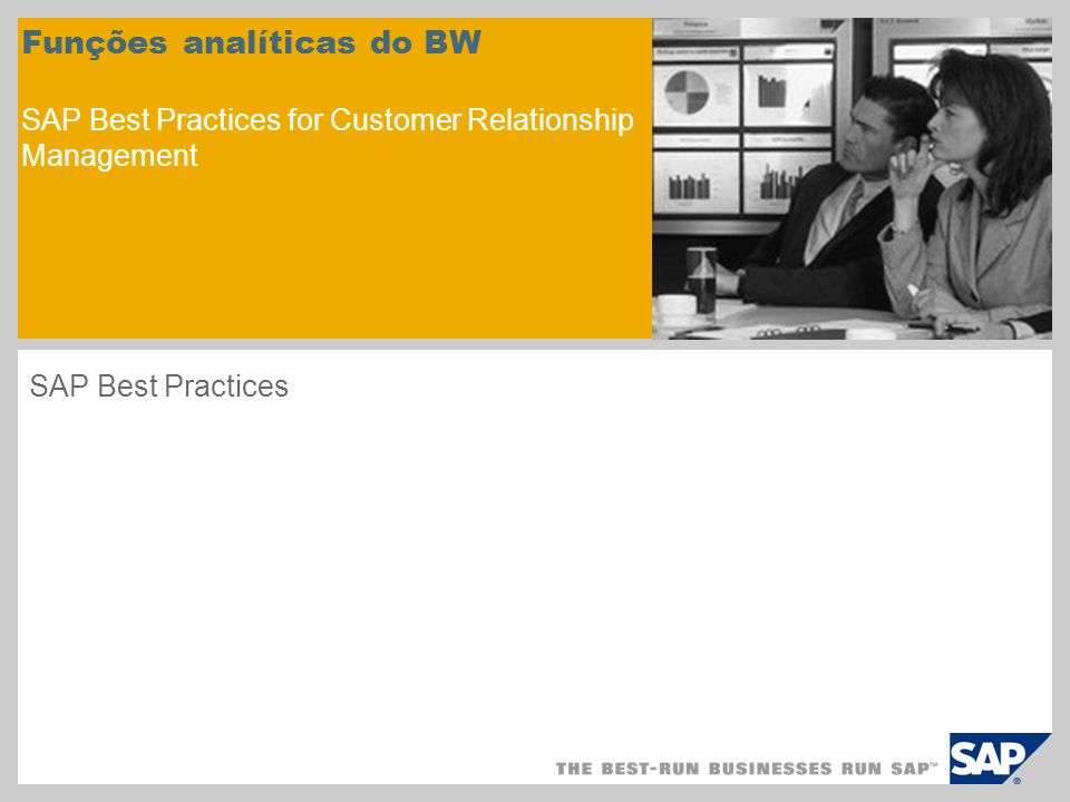 Funções analíticas do BW SAP Best Practices for Customer Relationship Management