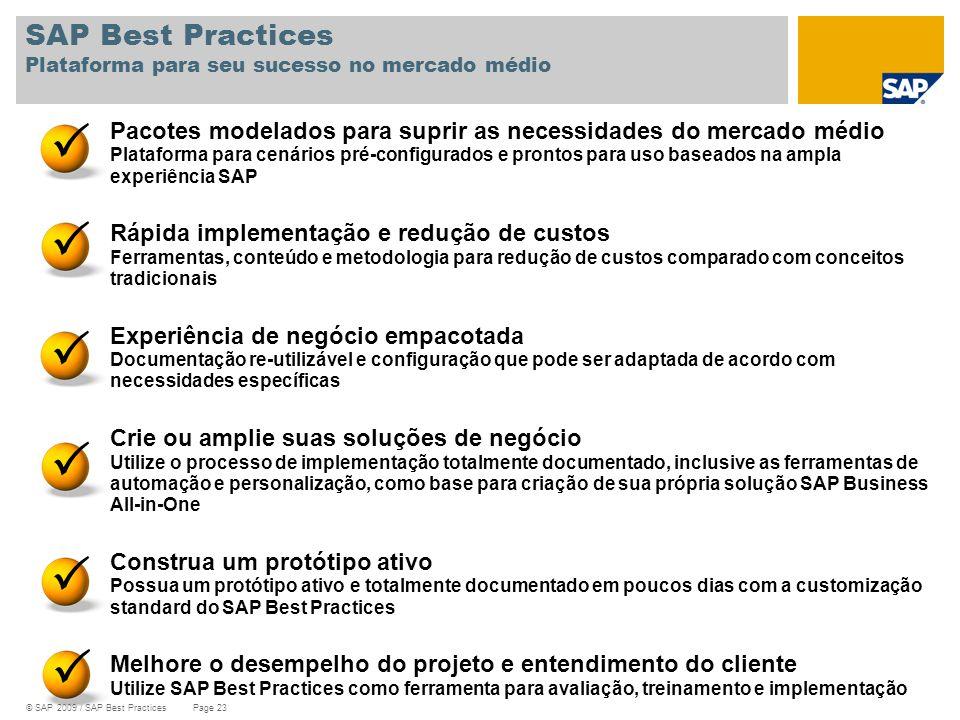 SAP Best Practices Plataforma para seu sucesso no mercado médio