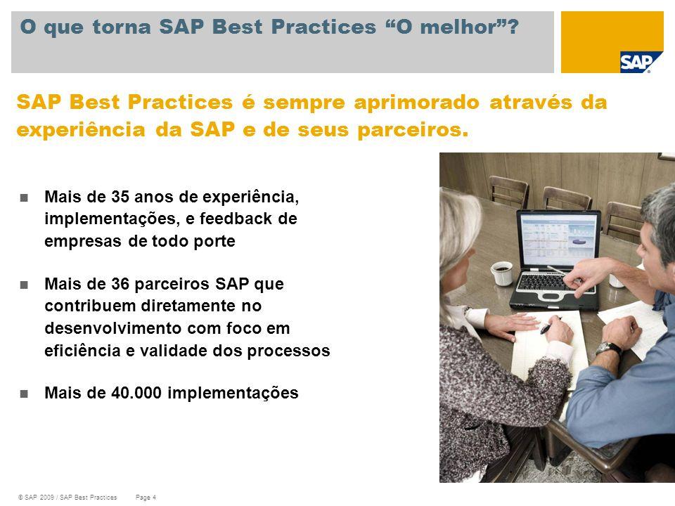 O que torna SAP Best Practices O melhor