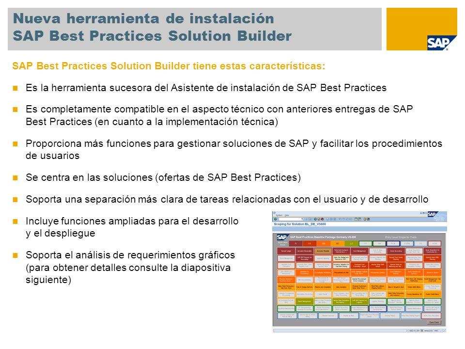 Nueva herramienta de instalación SAP Best Practices Solution Builder