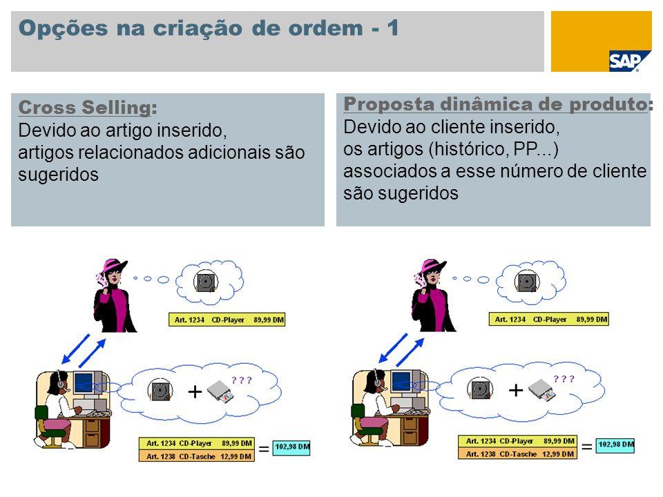 Opções na criação de ordem - 1
