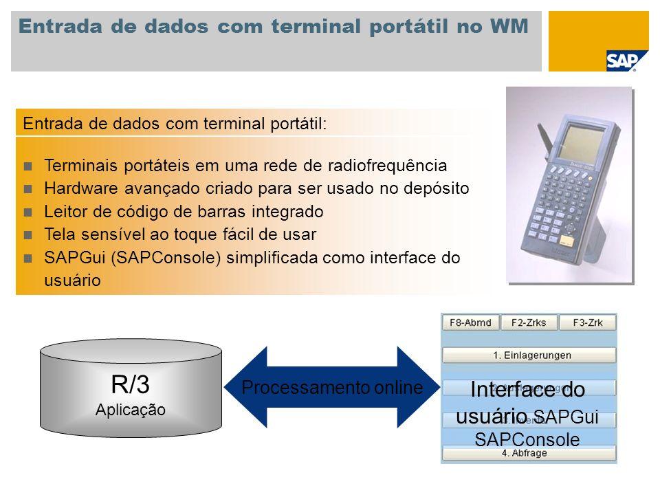 Entrada de dados com terminal portátil no WM
