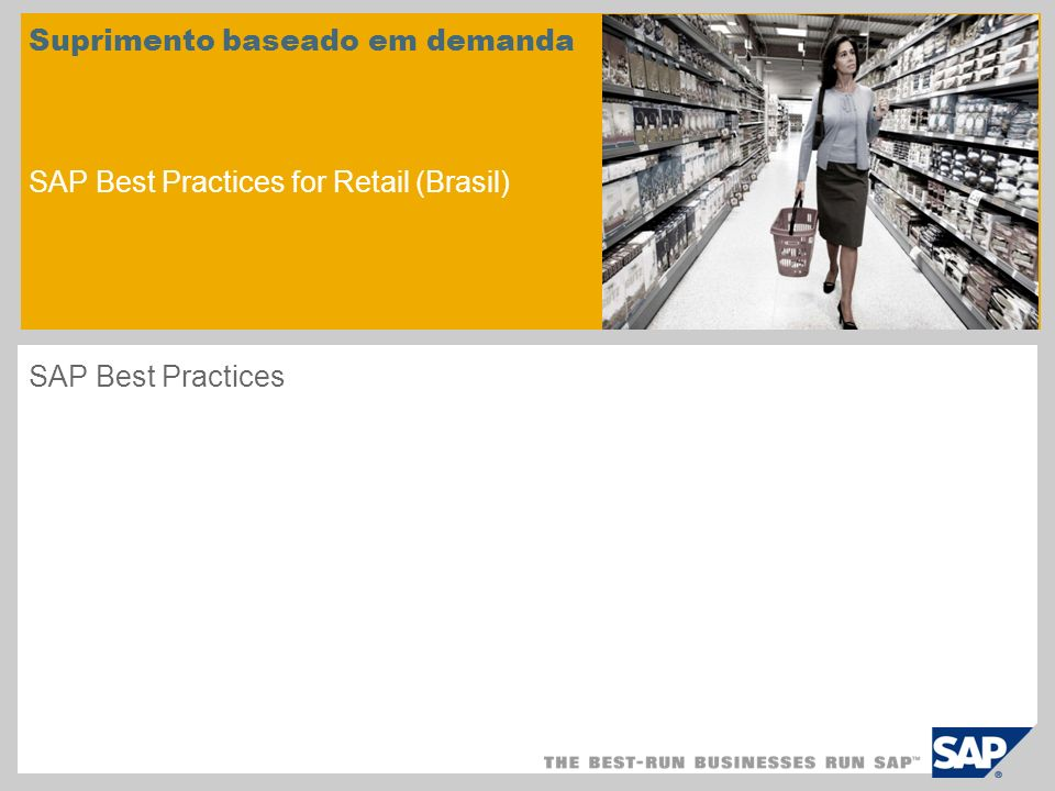 Suprimento baseado em demanda SAP Best Practices for Retail (Brasil)