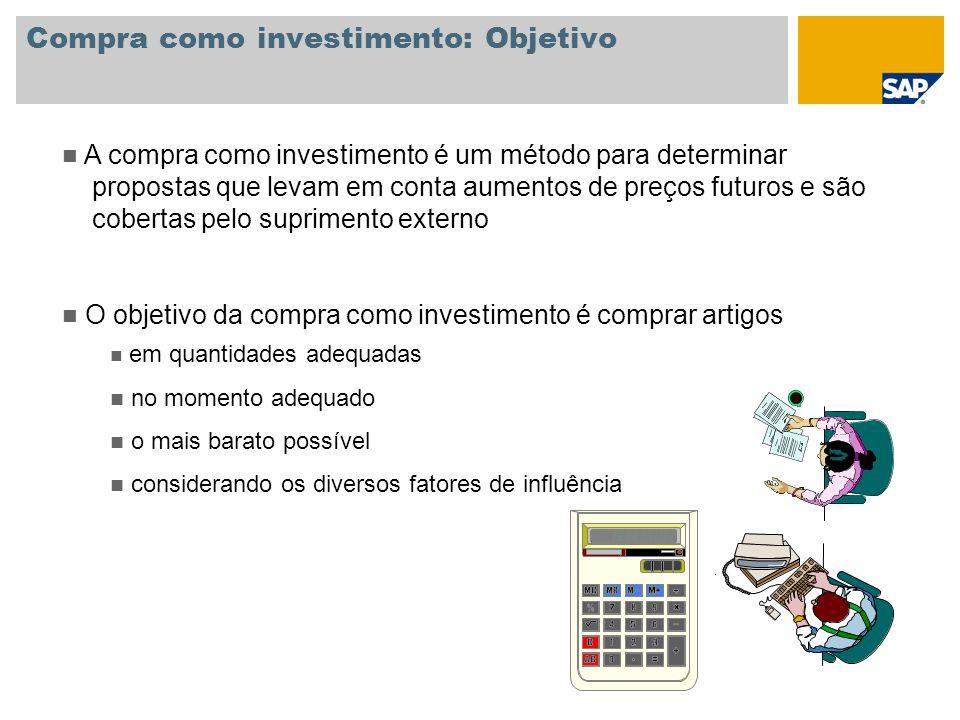 Compra como investimento: Objetivo