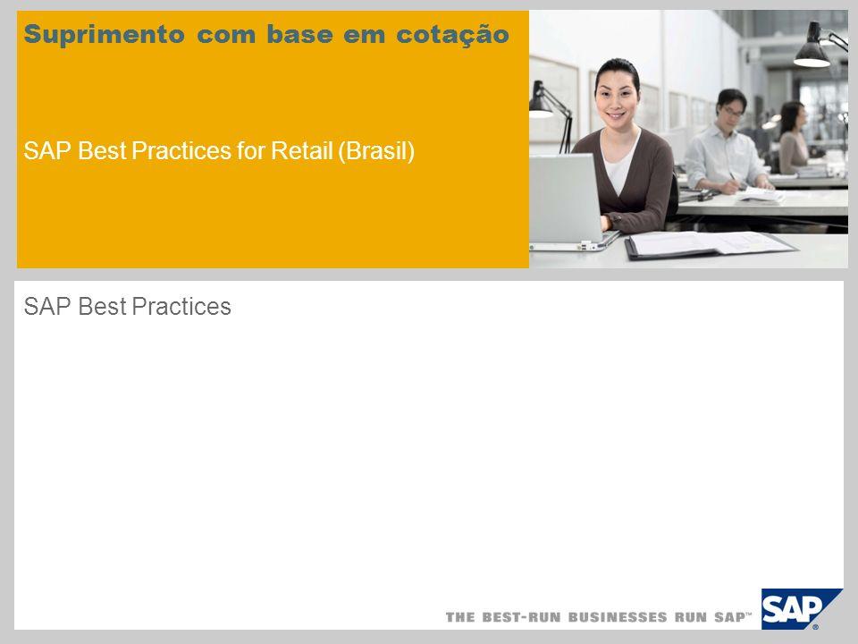 Suprimento com base em cotação SAP Best Practices for Retail (Brasil)