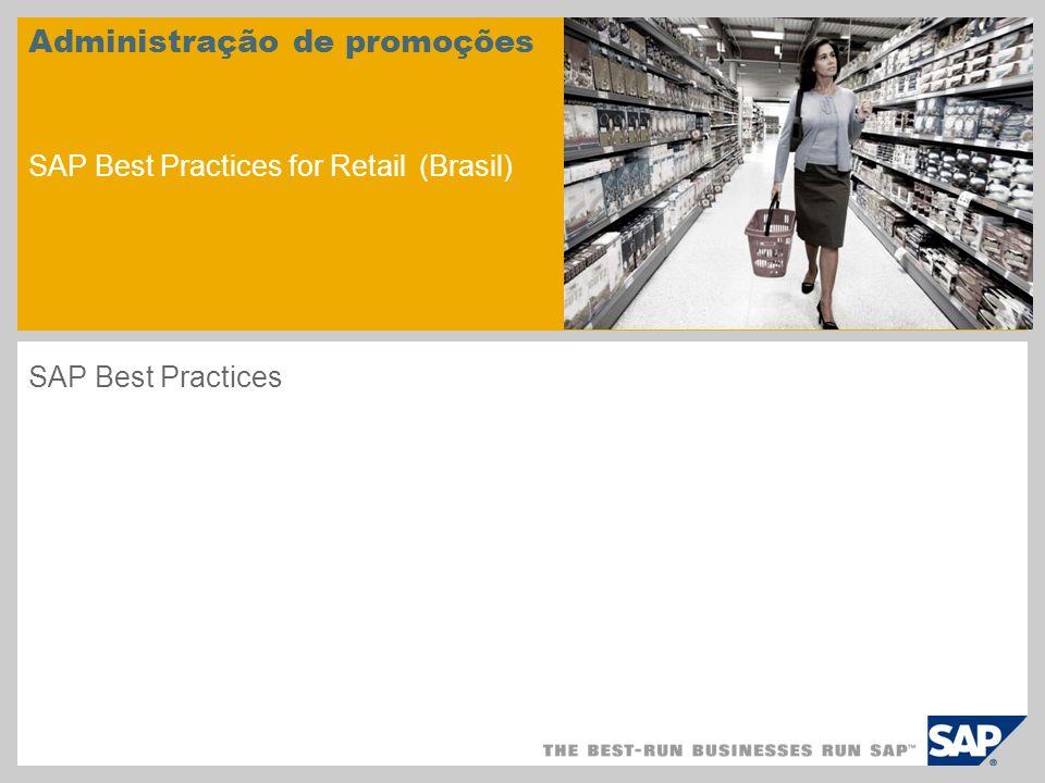 Administração de promoções SAP Best Practices for Retail (Brasil)