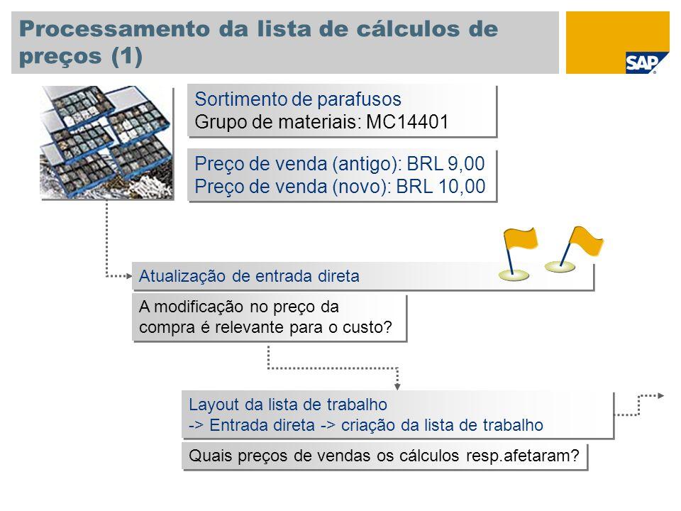 Processamento da lista de cálculos de preços (1)
